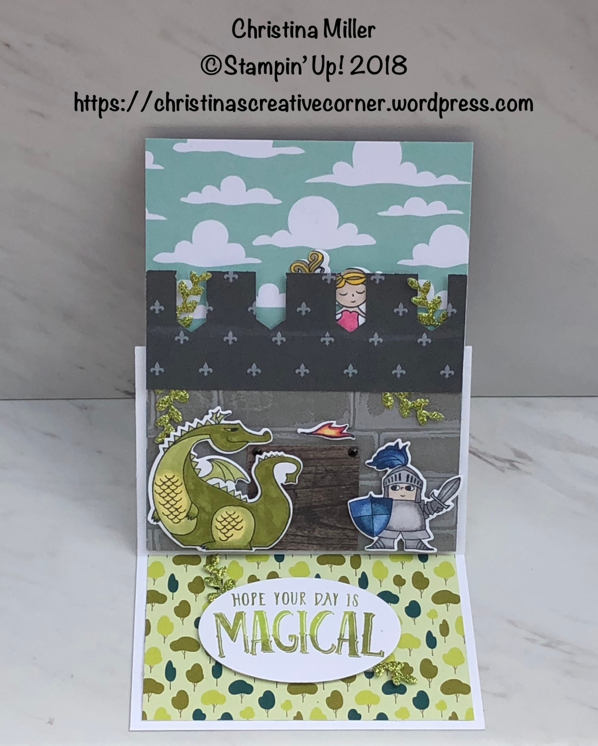 Castle Easel Card