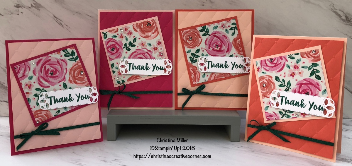 Quick and easy Thank Youcards!