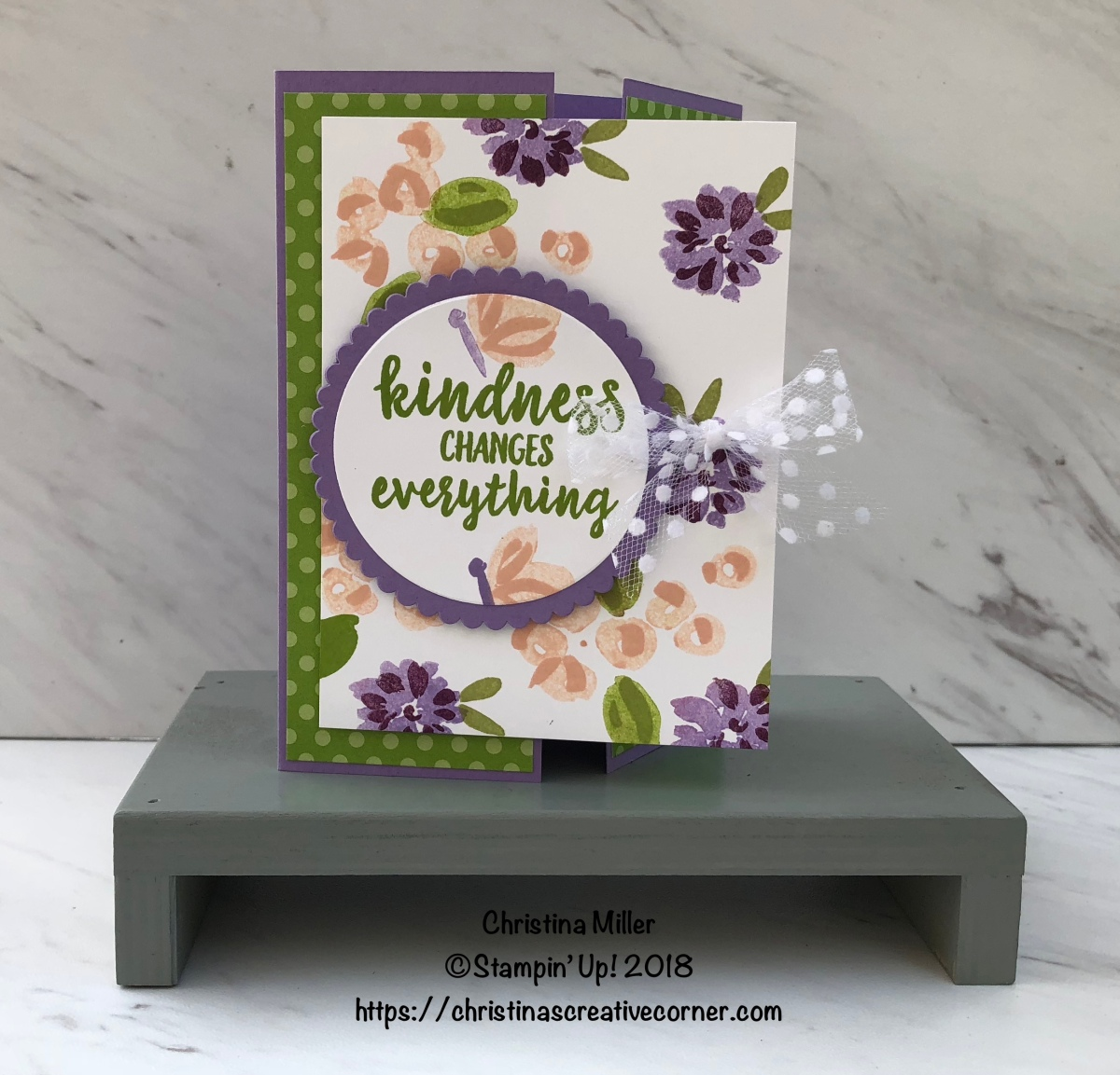 Kindness Gate Fold Card