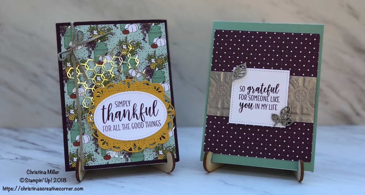 Thanksgiving Cards with Country Lane Suite