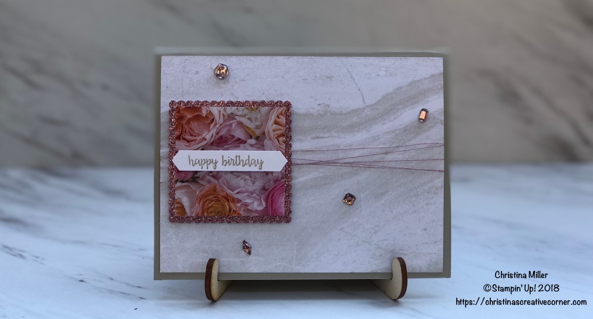 Birthday card with bling!