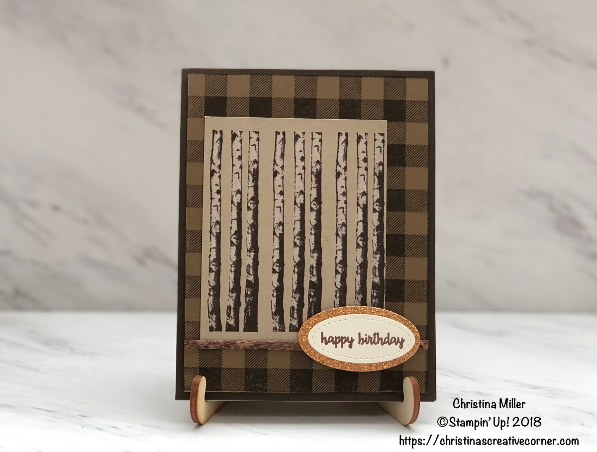 Quick and easy masculine birthdaycard