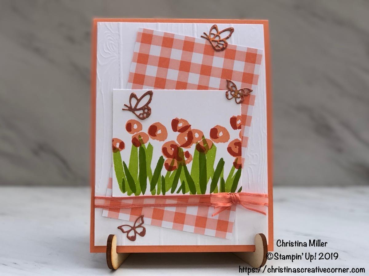 Sweet springtime card with GrapefruitGrove