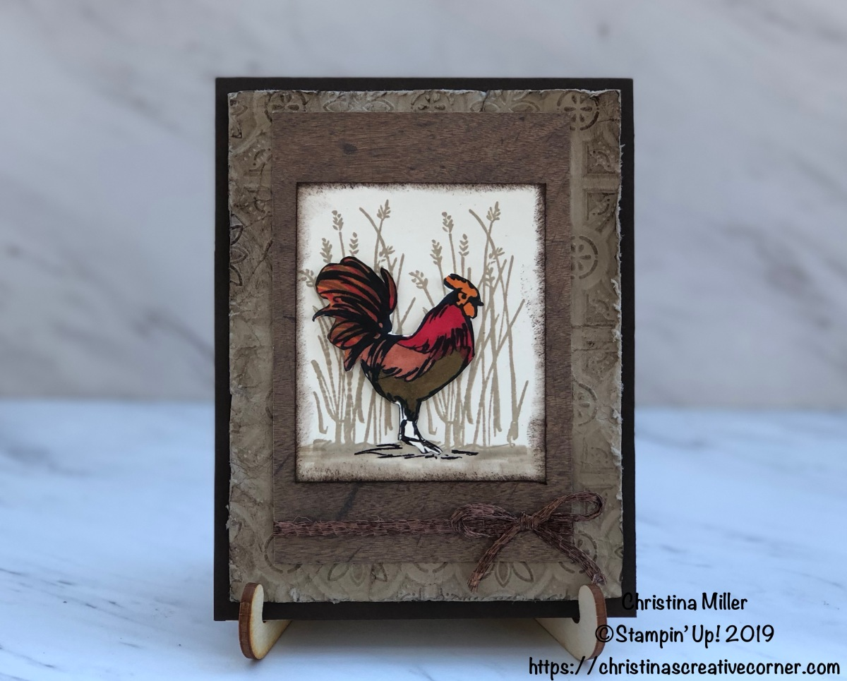 Rustic card with Home to Roost