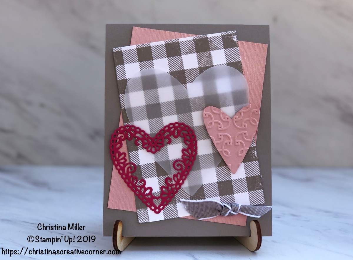 Create a fun Valentine's Day card with lots of layers and textures!