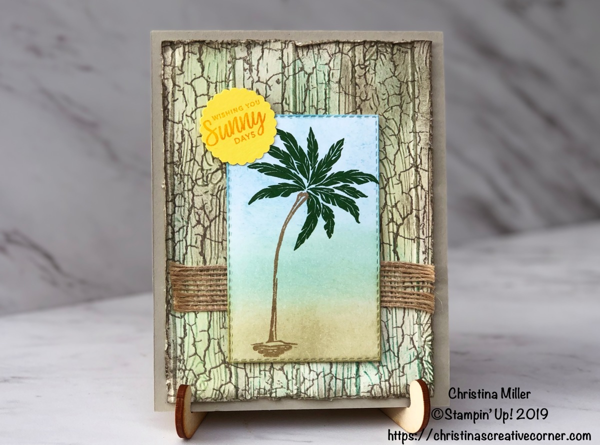 "Create a ""weathered wood"" background for Beach Happy!"