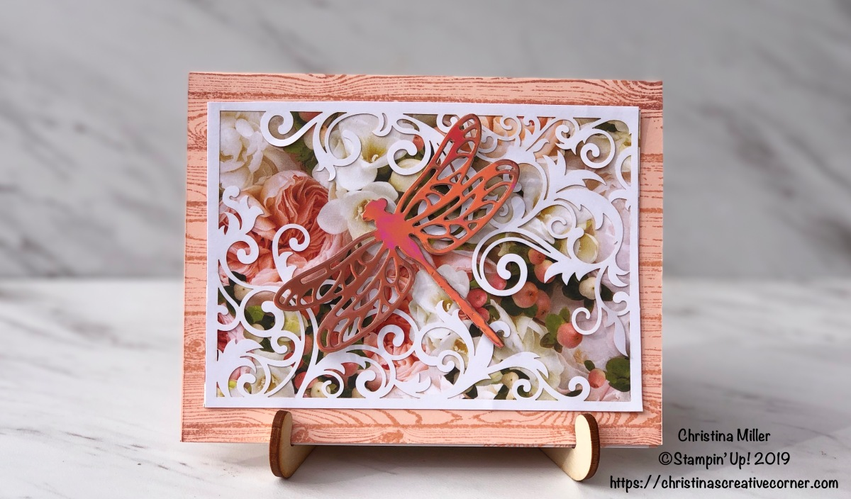 Create a stunning card with Designer Series Paper!