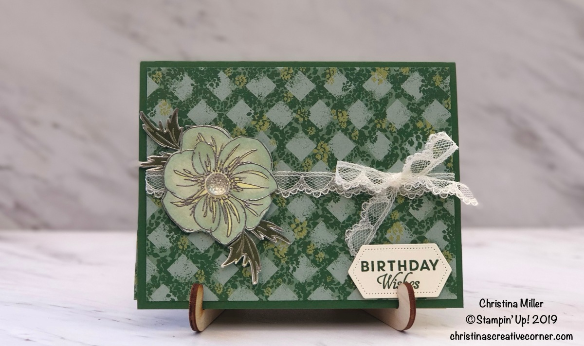 Birthday wishes with Floral Essence and Garden Lane DSP