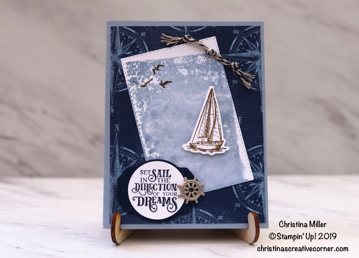 Congratulations card with Sailing Home