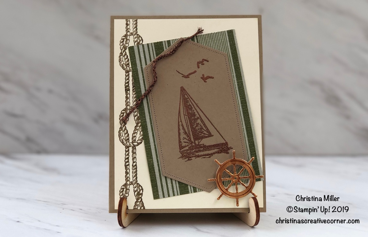 Embossing with Sailing Home