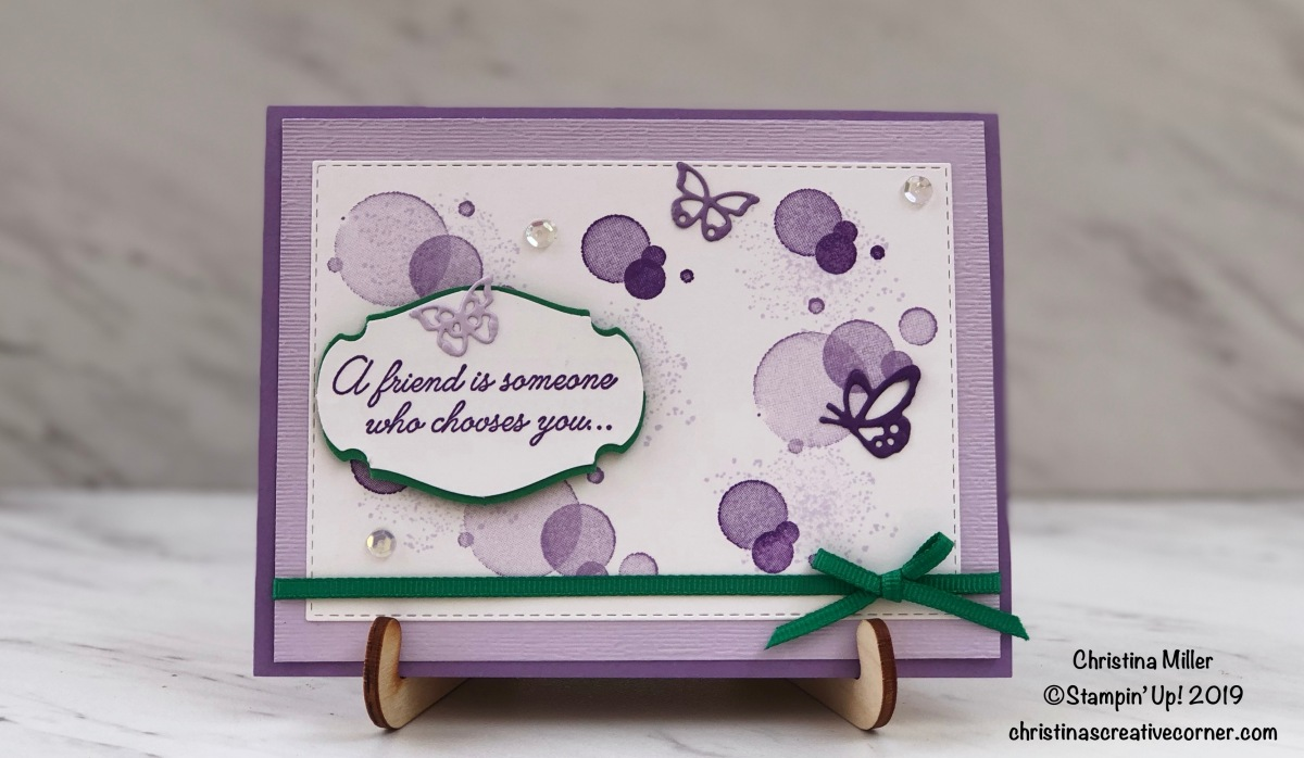Creating a fun Beauty Abounds card!