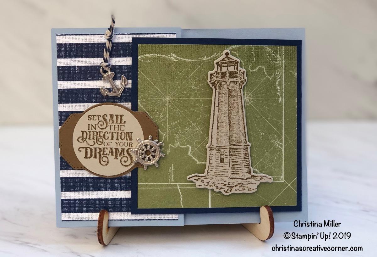 Fun fold card with the Come Sail Away Suite!