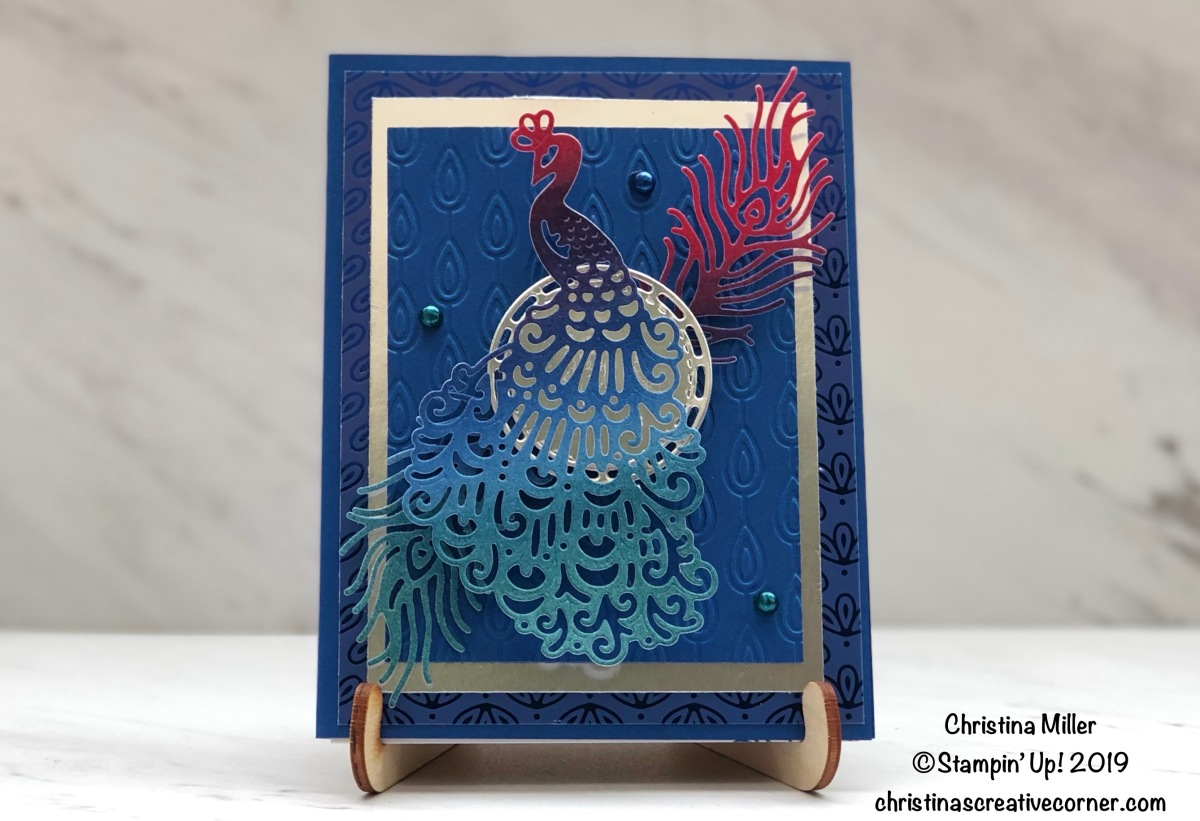 Colorful Royal Peacock card