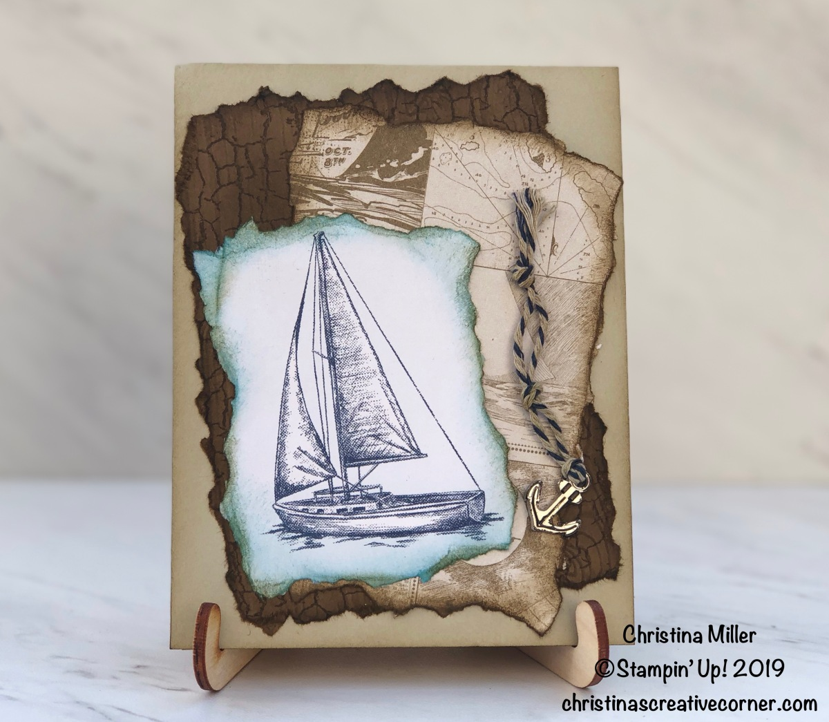 Give your card a different look with distressing!