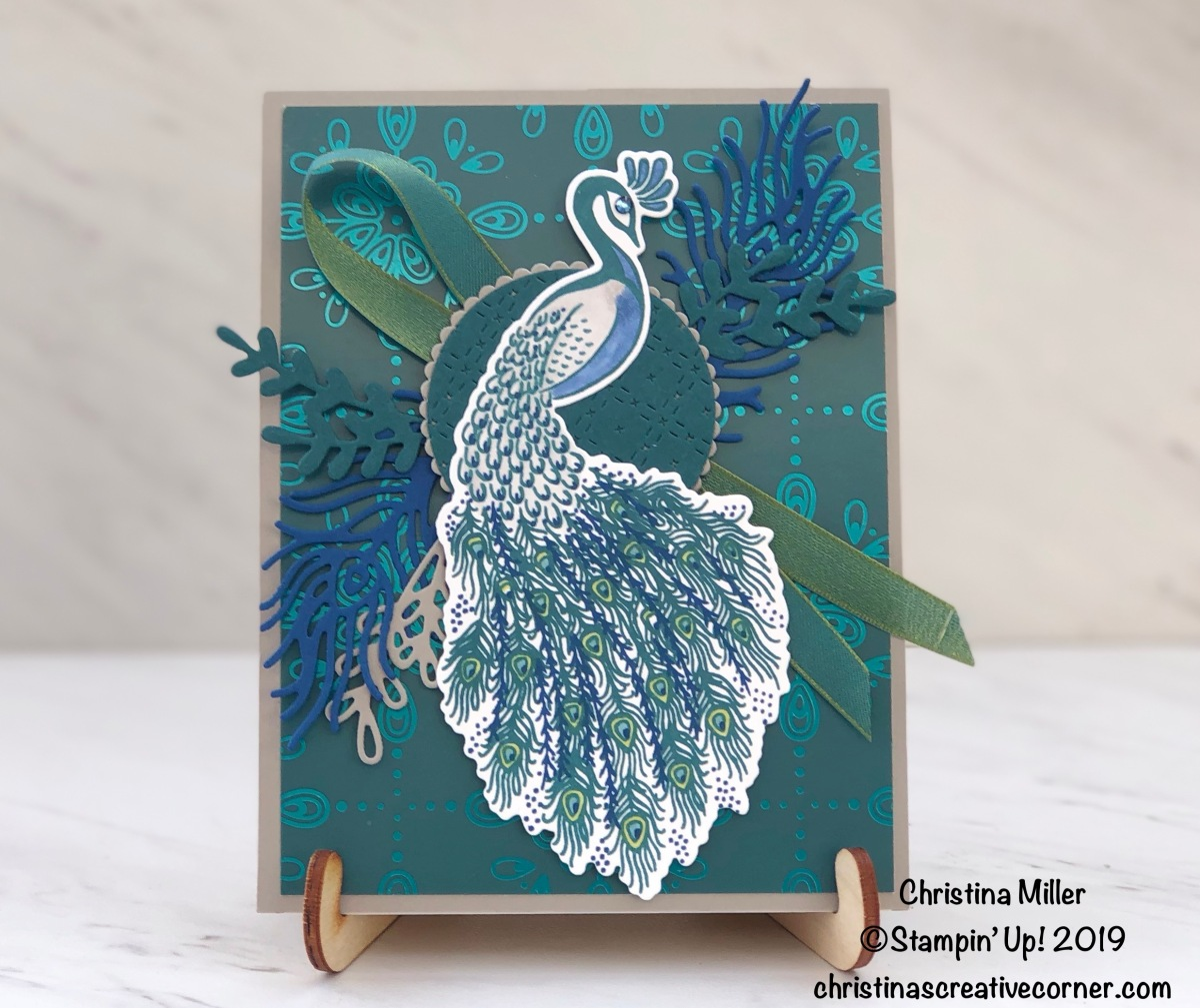 Lovely Royal Peacock card!