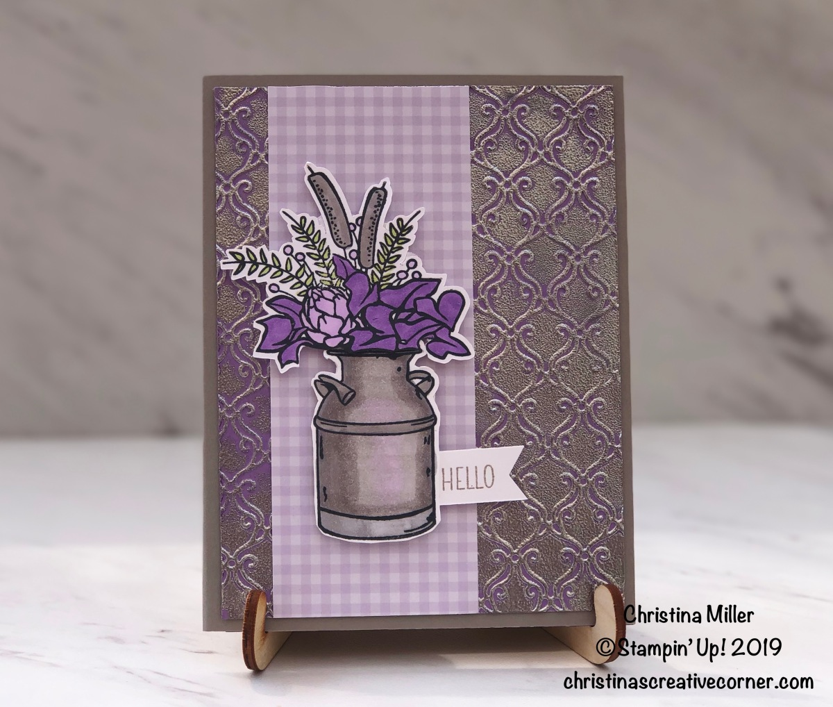 Give your embossed cardstock some heat and shine!