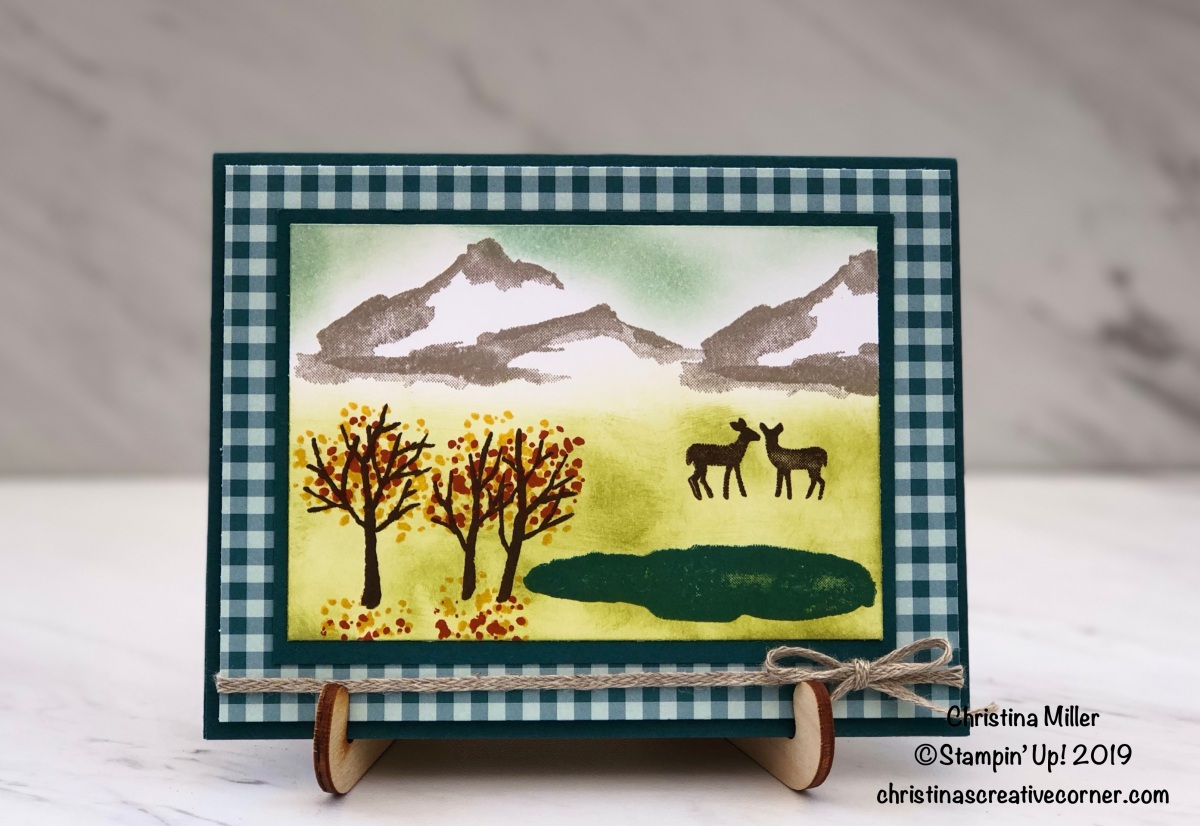 Make a fall card with the Snow Front stamp set!