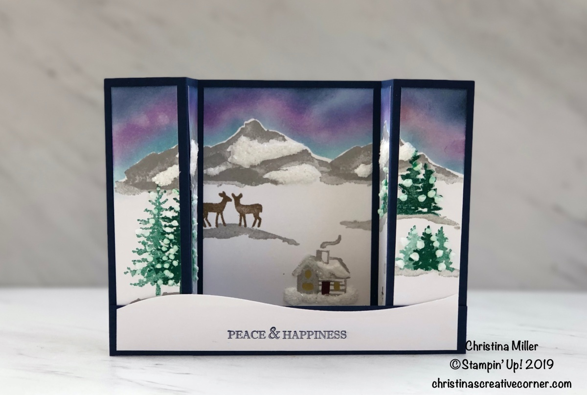 Snow Front Bridge Fold Card