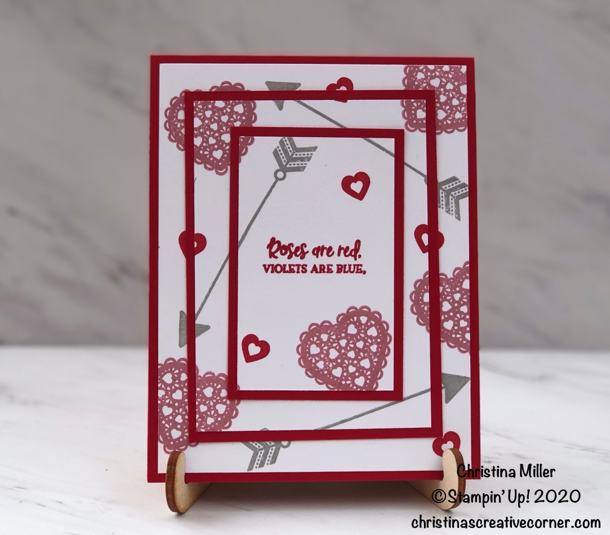 Fun and easy Triple Stamping card
