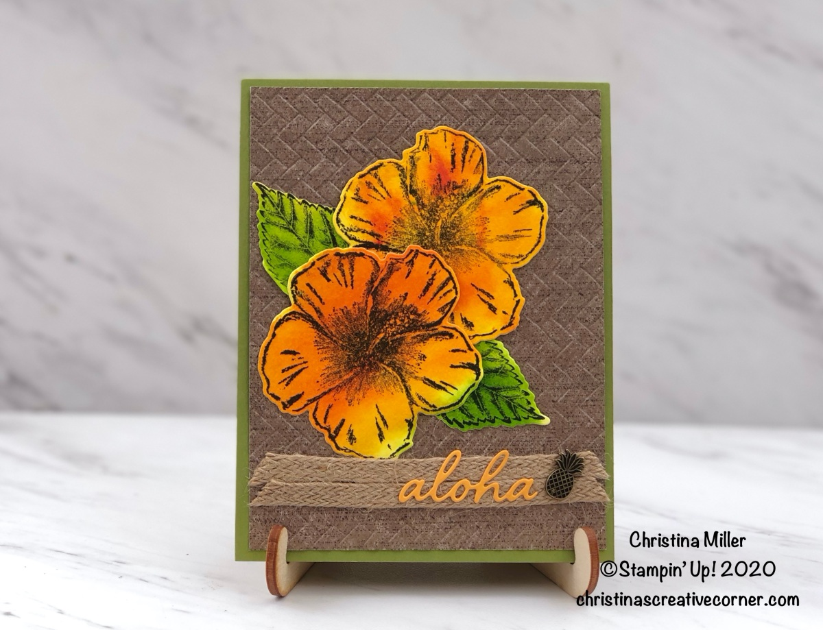 Aloha card from that Tropical Oasis Suite!