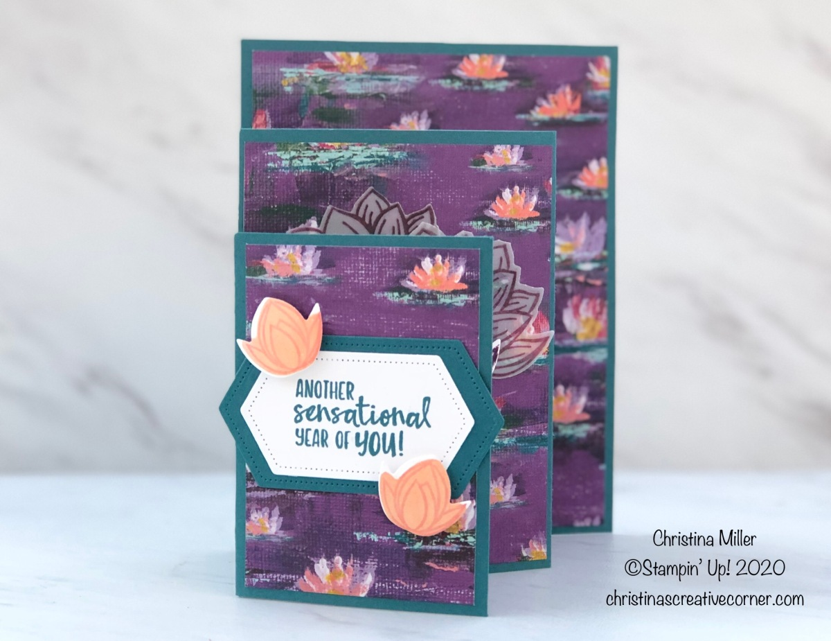Lovely Lily Pad Four-Fold Card