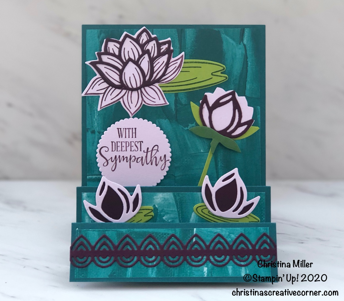 Lily Pad Step Card
