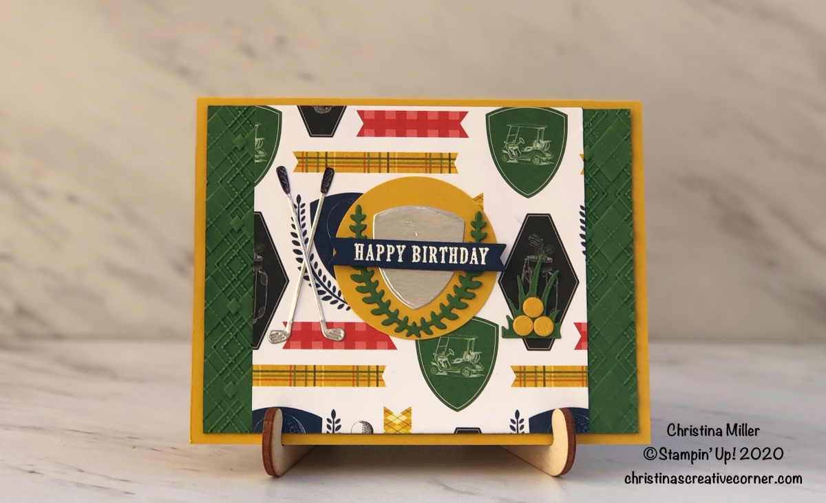 Sporty Birthday Card with the Country Club Suite