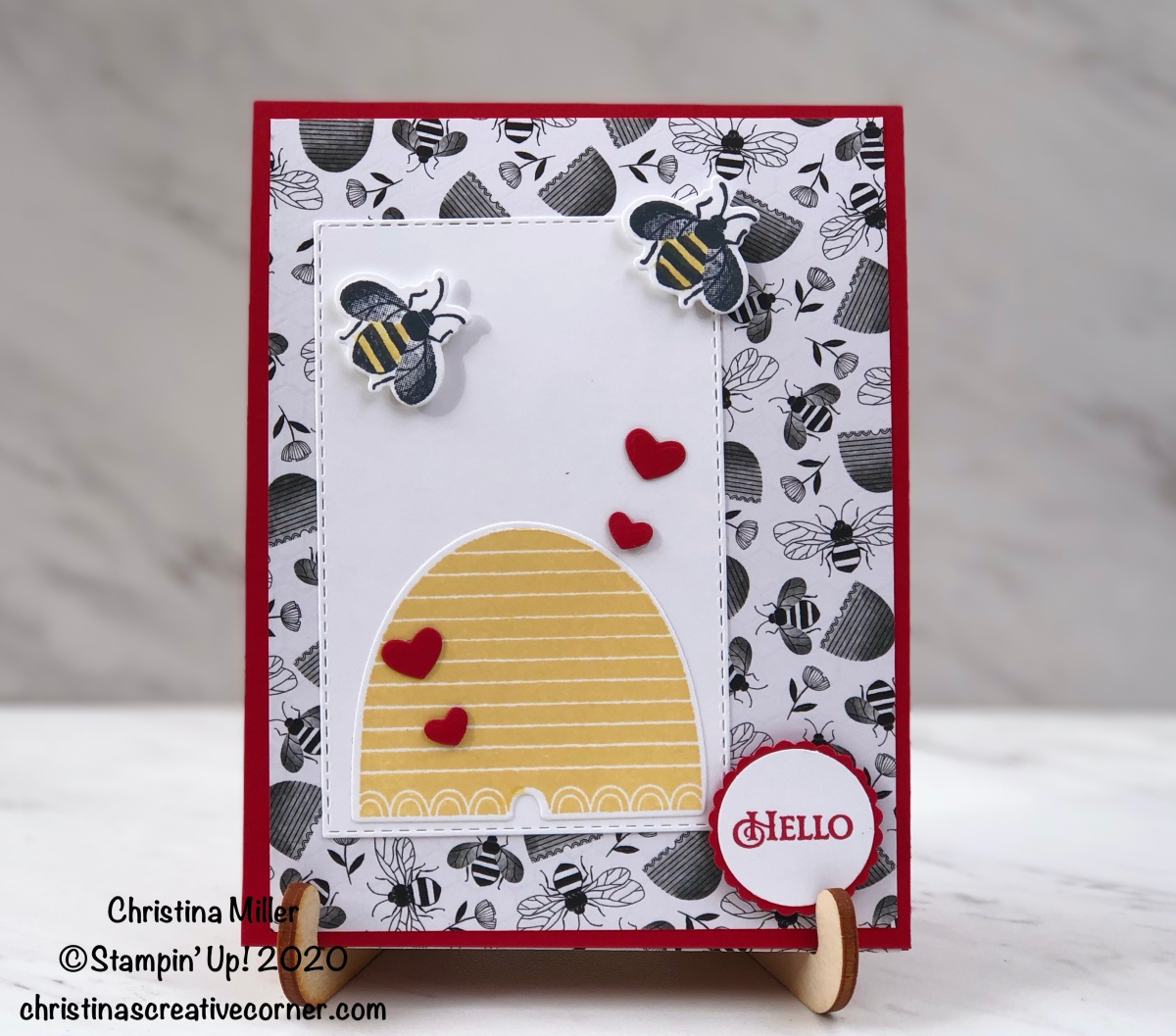 A sweet little Honey Bee Valentine card