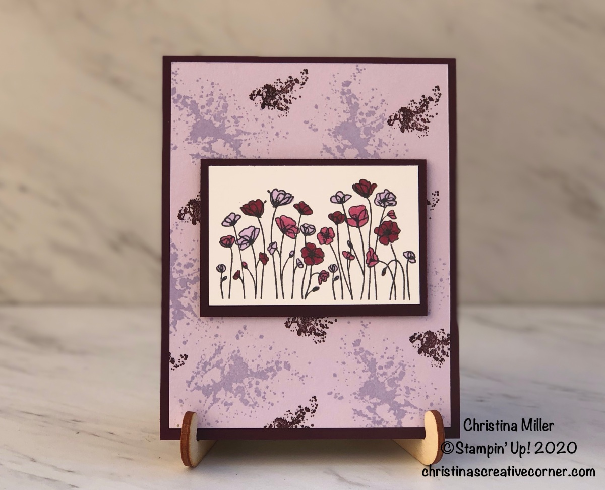 #simplestamping with Painted Poppies!