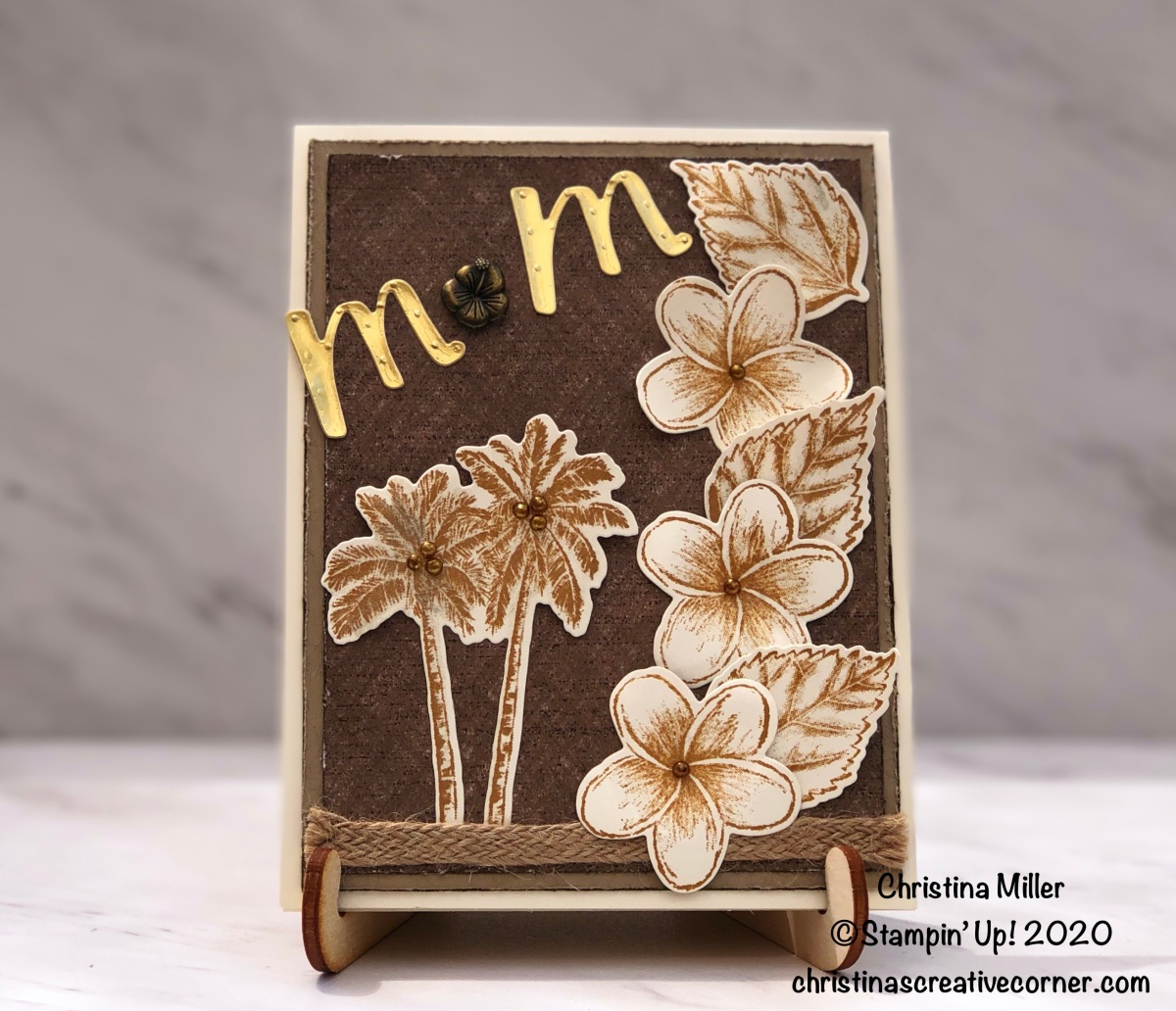 Sepia Tropical theme for Mother's Day!