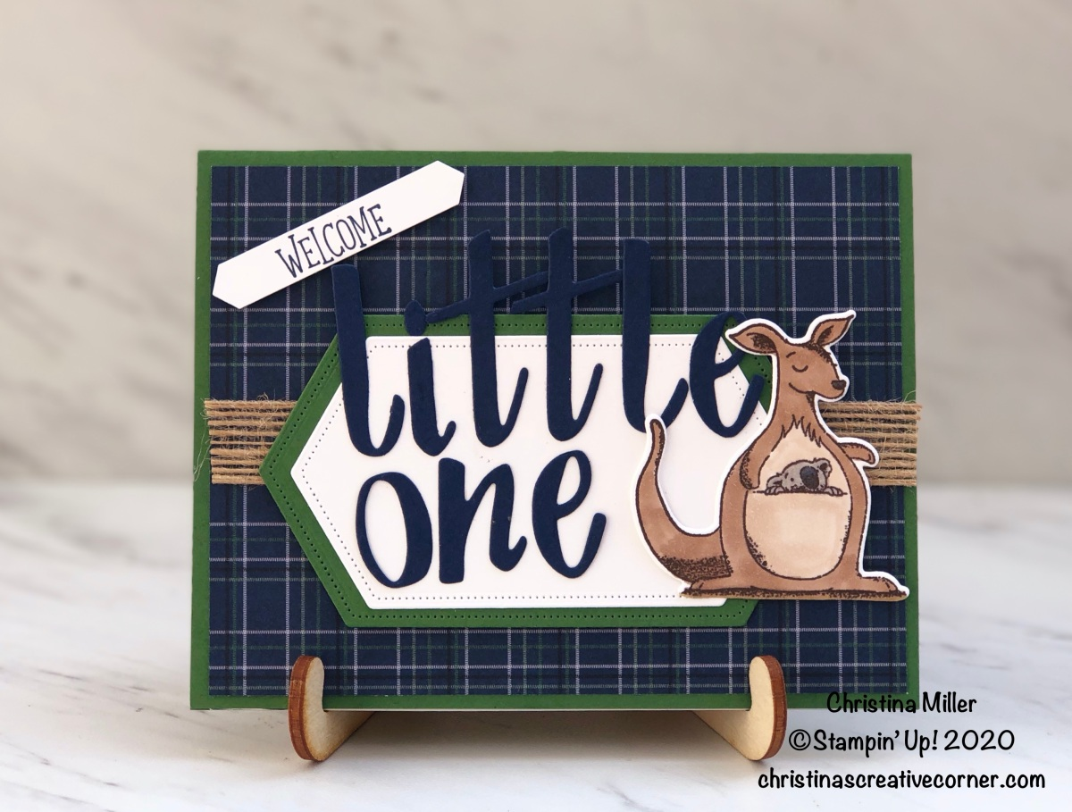 Hand-Lettered baby card!