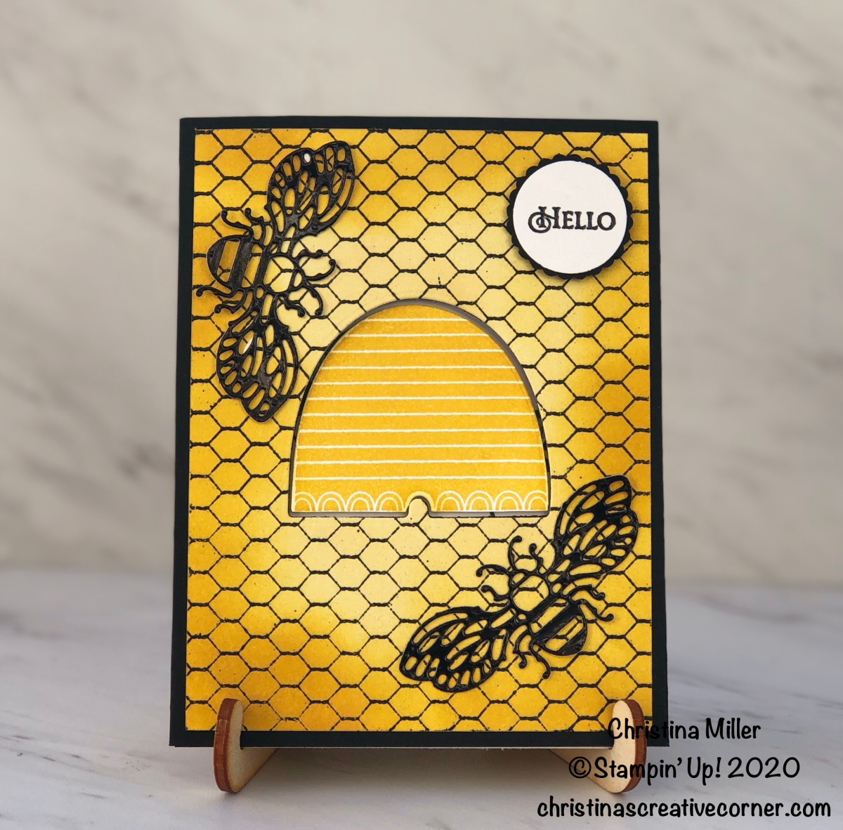 Honey Bee Tri-Fold Card!