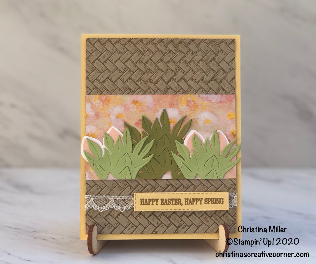 Perennial Essence + Tropical Oasis = One Cute EasterCard!