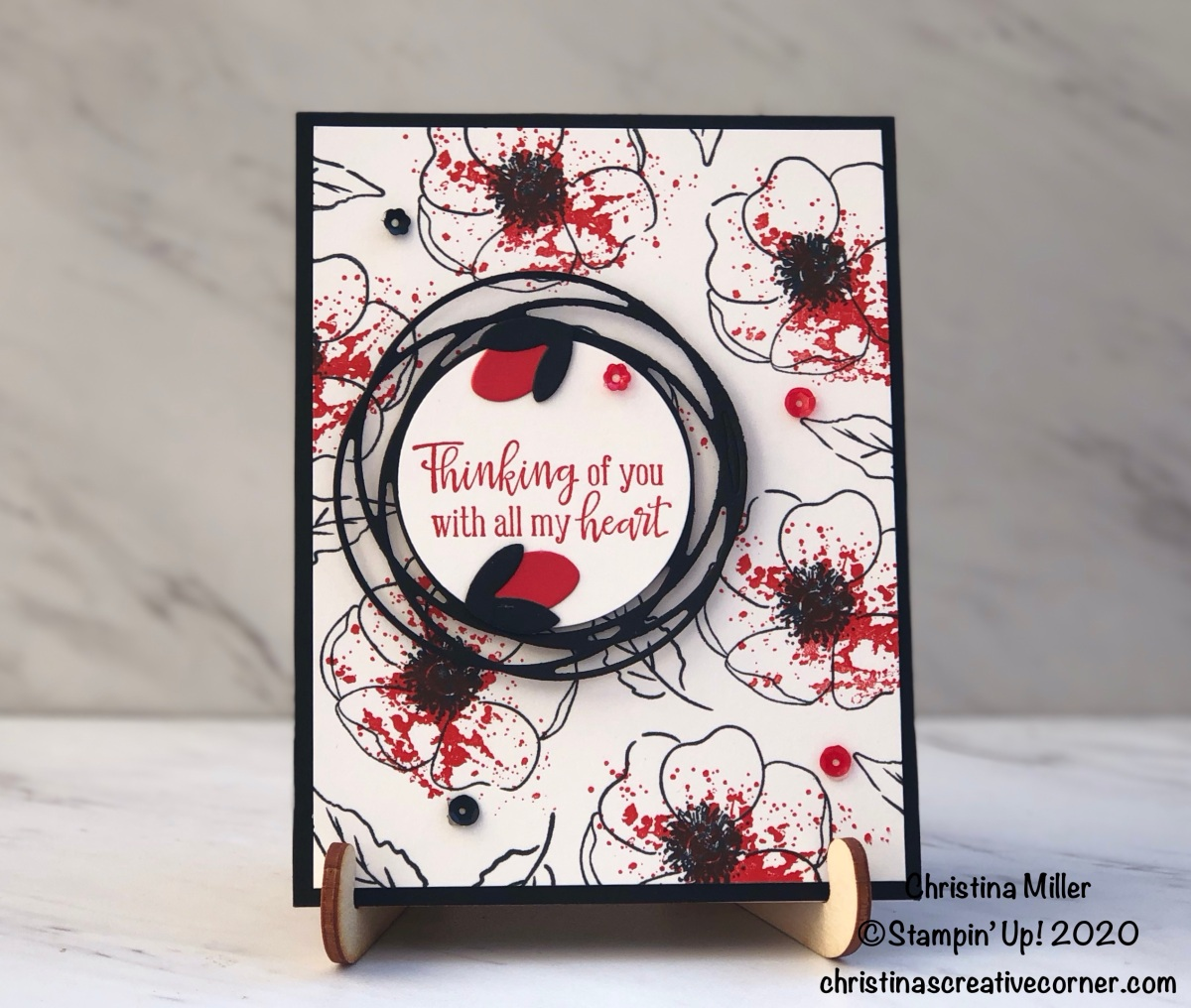 Pop of Poppy Parade with Painted Poppies and PeacefulMoments!