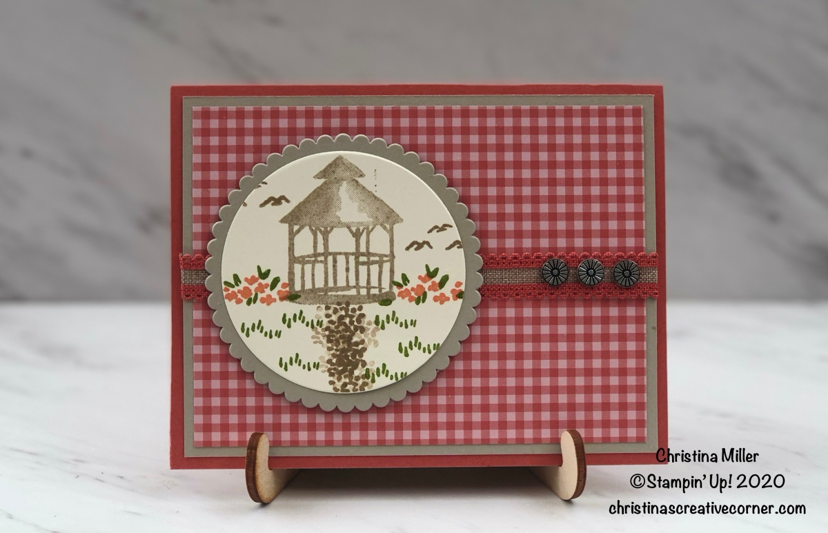 Easy Thank You card with My Meadow stampset!