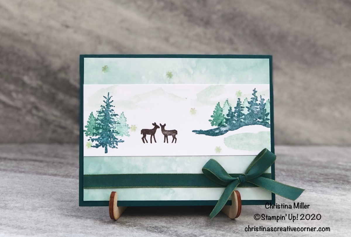 Winter scenery with Snow Front stamp set!