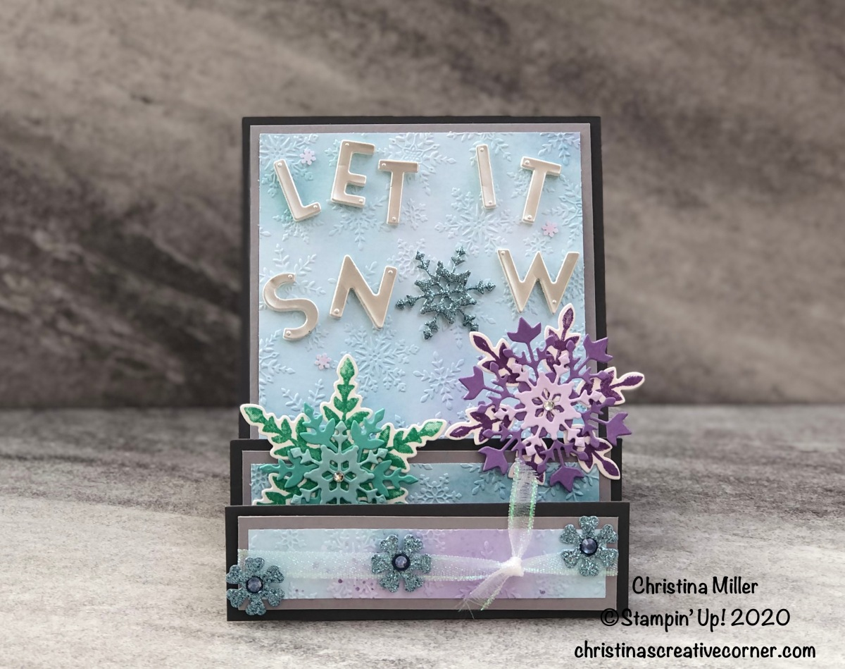 Let it Snow Step Fold Card!