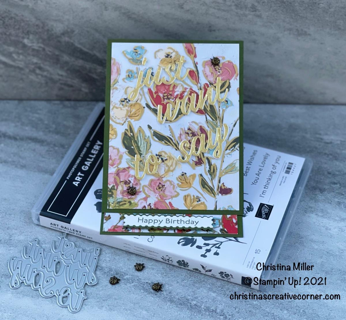 Fine Floral Suite EaselCard