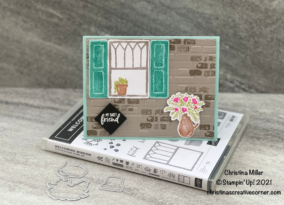 Welcoming Window sweet friend card!