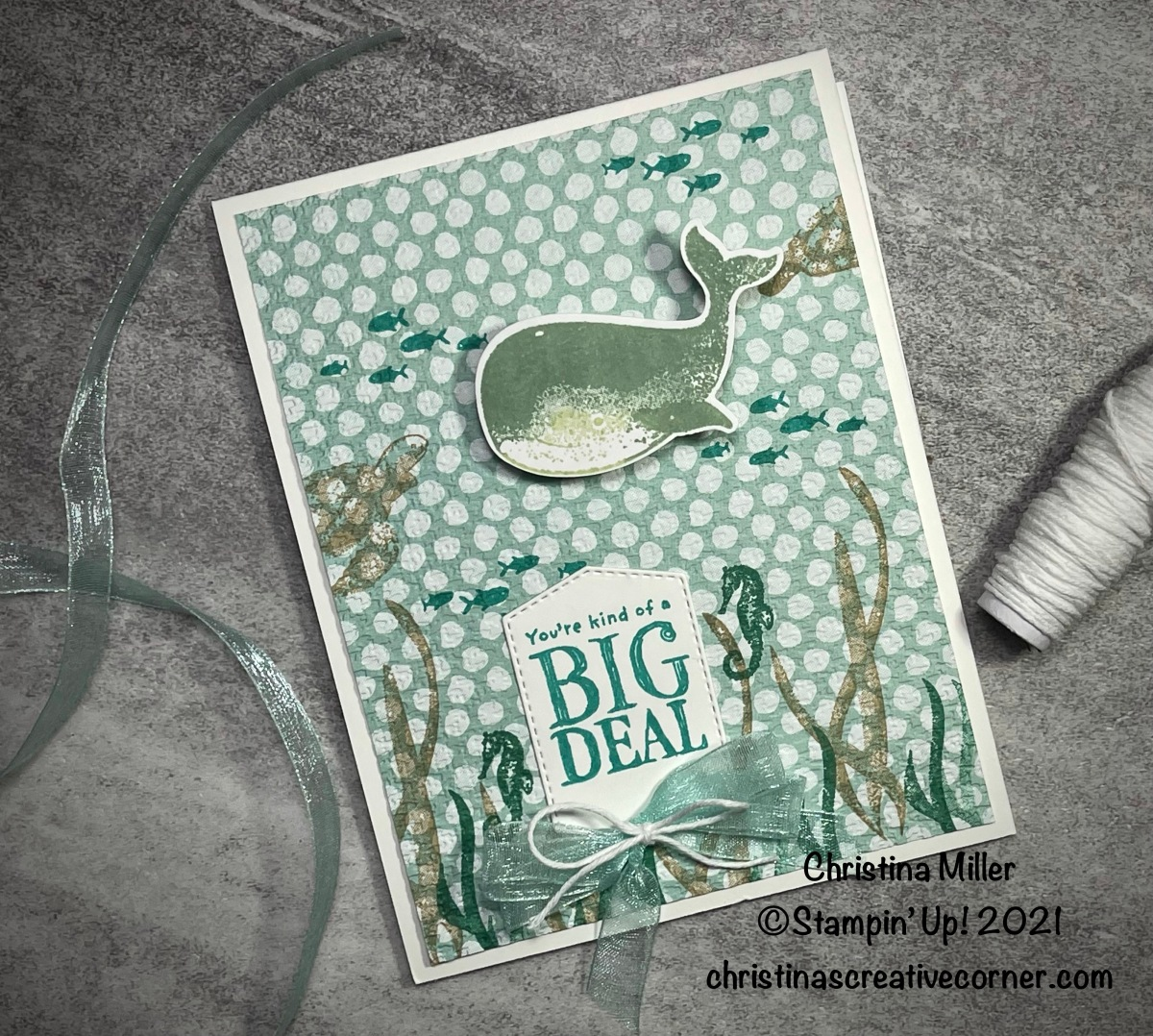 Stamp and emboss your Designer SeriesPaper!