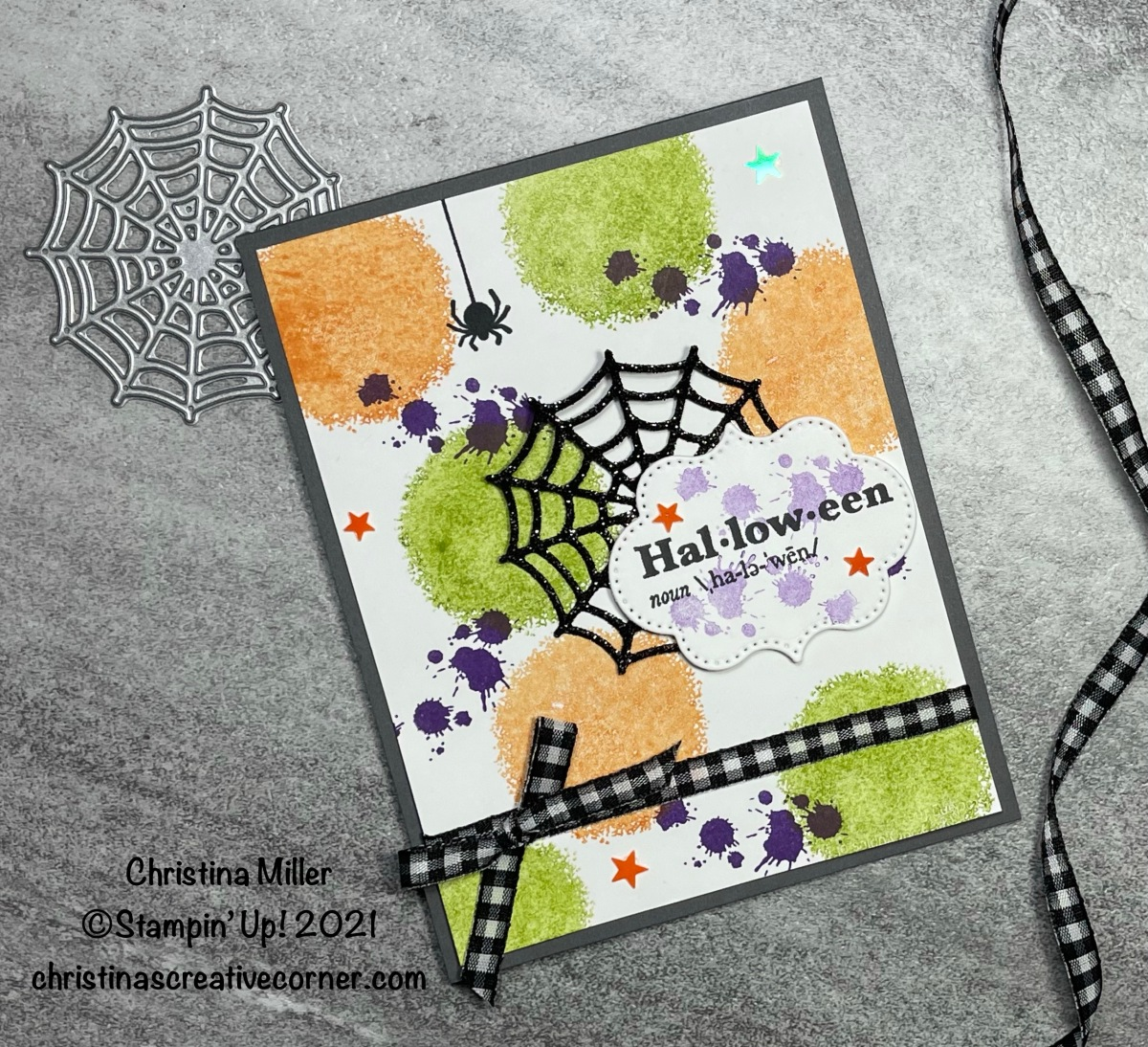Halloween fun with Textures & Frames stampset!