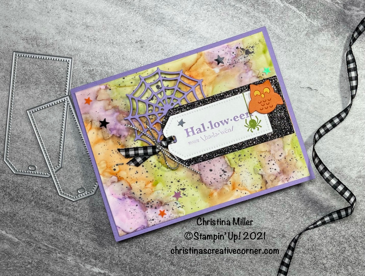 Spooky Halloween card with Stampin' Blends and AlcoholTechnique!